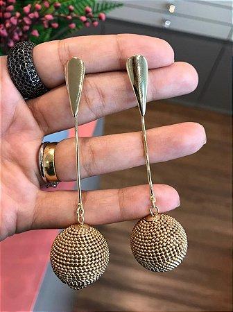 Brinco Pêndulo Dourado