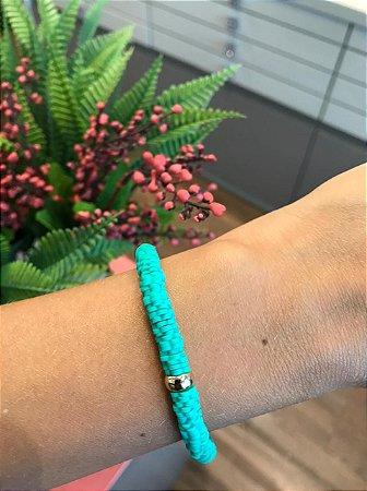 Pulseira Colorida Verde Tiffany TAM P
