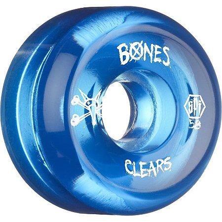 RODA BONES CLEAR BLUE 84B - Secret Spot Skate Shop - Tudo para skate ... dddd01f7624