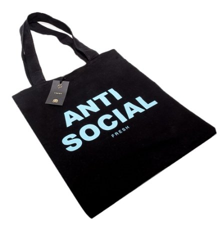 Ecobag Fresh Street Co. Anti Social Preta