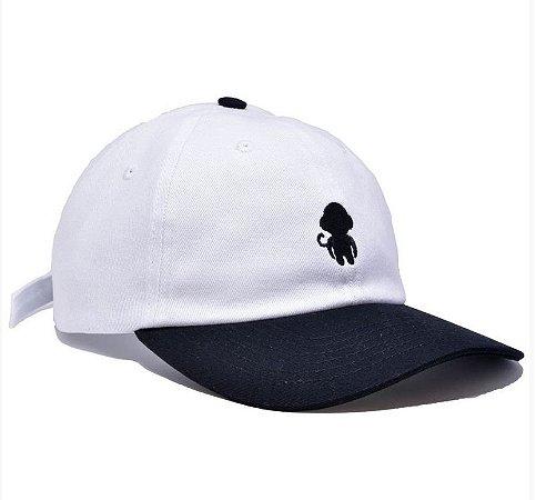 Boné Dad Hat Improve Monkey Logo Branco/Preto