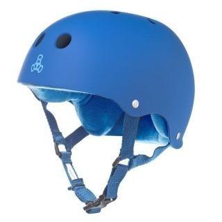 Capacete Skate Triple Eight Brainsaver Sweatsaver Royal Blue Rubber