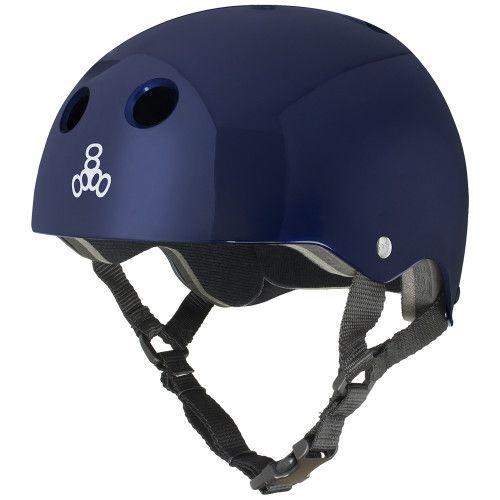 Capacete Skate Triple Eight Brainsaver Standard Blue Metallic