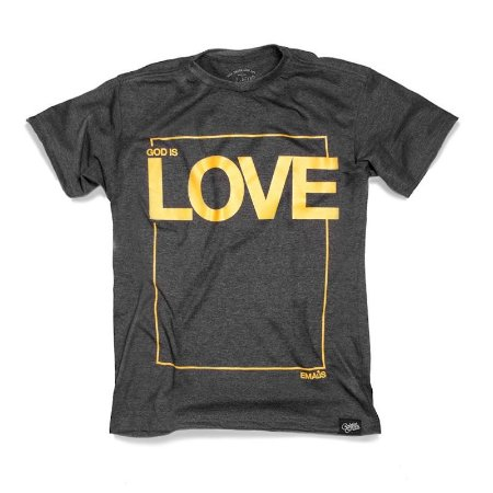 CAMISETA MASCULINA LOVE GOLDEN