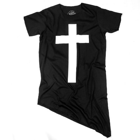CAMISETA LONGLINE CRUZ BLACK