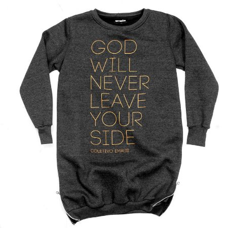 MOLETOM MASCULINO LONGLINE GOD WILL