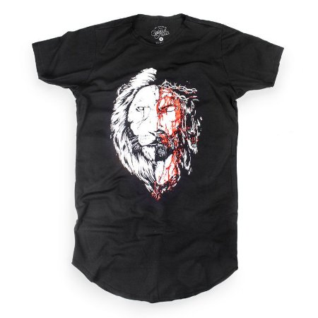 JESUS&LION LONGLINE BLACK