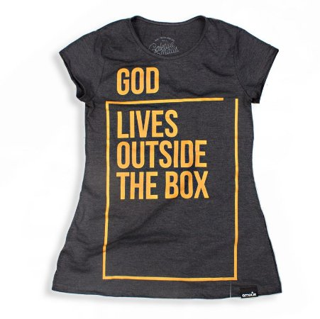 CAMISETA FEMININA GOD LIVES CHUMBO