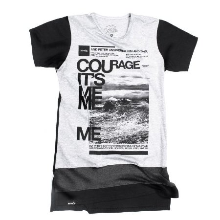 CAMISETA LONGLINE COURAGE
