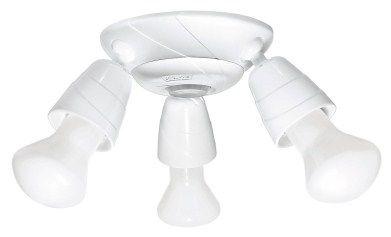 Kit Sensor de presença de teto 360° + suporte + tulipa. Fácil instalação.
