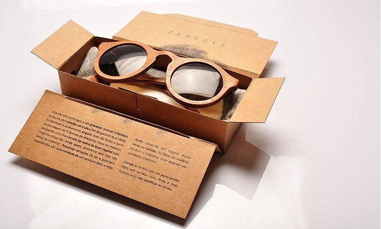 Óculos de sol de madeira reutilizada Zerezes - Eco friendly