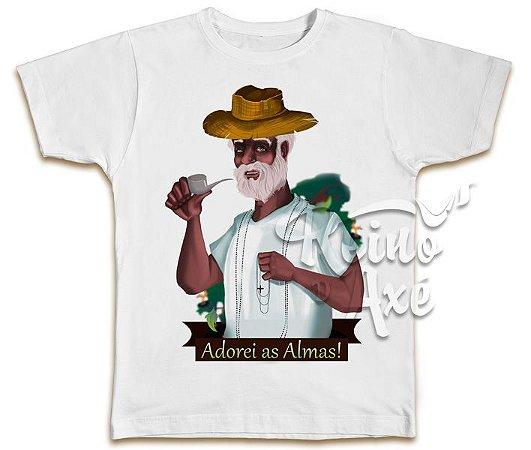 Camiseta Preto Velho Adorei as Almas