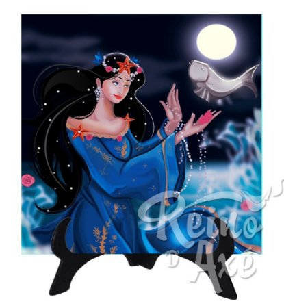 Azulejo decorativo Iemanjá Rainha
