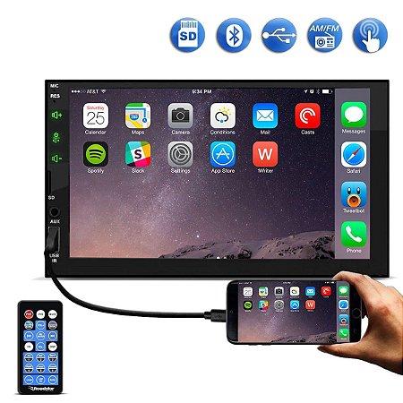 Central Multimídia Universal com Espelhamento Android IOS Roadstar RS505BR MP5 Bluetooth Controle