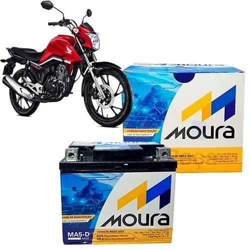 Bateria Para Moto 12V/5Ah Moura MA5-D