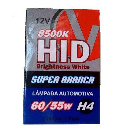 Lâmpada Super Branca H4 8500K Efeito Xenon