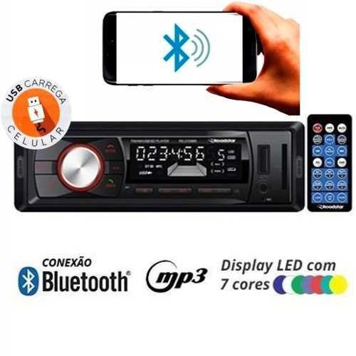Auto Radio Automotivo Roadstar Rs-2709br Usb Sd C/ Bluetooh