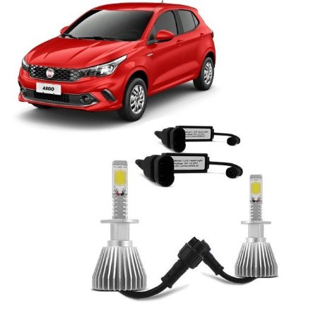 Kit Lâmpada Super Led Headlight 6000K 12V 35W - Efeito Xênon