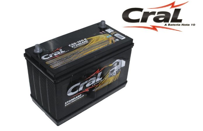 Bateria Cral Selada 100Ah – CSB100E – Livre de Manutenção