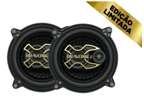 Par Altol Falante Bravox Triaxial 5 polegadas Gold Edição Premium 100w  4ohms
