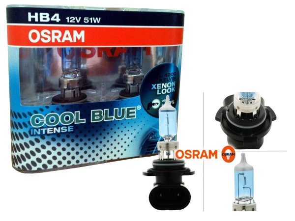 Par Lâmpada Osram Cool Blue Intense 4200K Original - Efeito Xênon