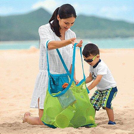 Bolsa para brinquedos de praia ou pracinha que não deixa areia