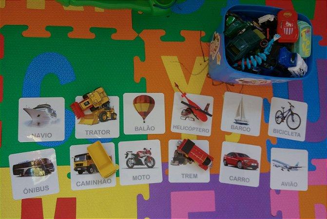 Flashcards de objetos do dia a dia