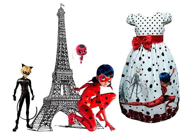 Vestido LadyBug Miraculous Infantil Tam. 01 ao 14