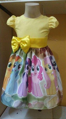 Vestido My Little Pony Infantil Festa Tam. 01 ao 14.