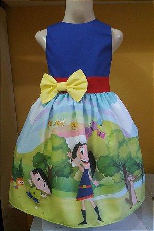 Vestido Show Da Luna Infantil Lindo Festa By Tia Gina Tam 01 ao 06.