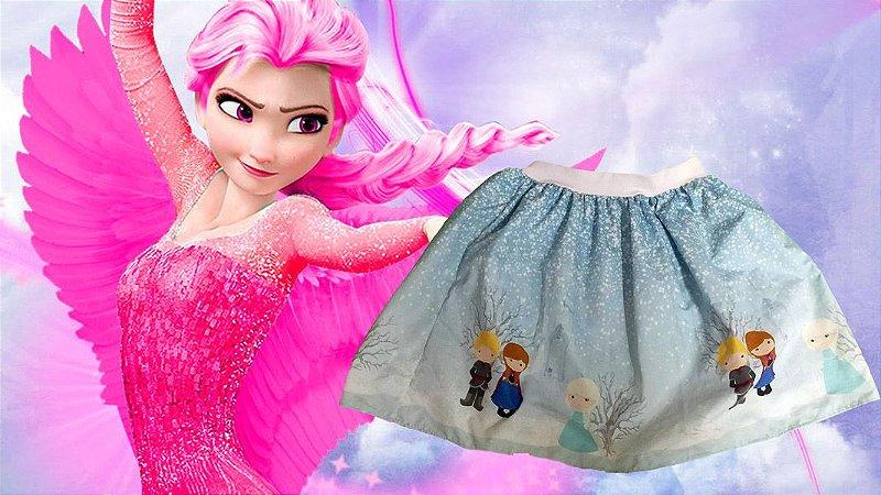 Saia Frozen Cute Infantil Feminina Tamanho 01 ao 06.