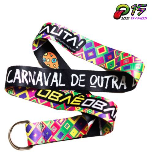 Tirante Caneca Oba Festival 2020 Preto/Colors-Edição Especial