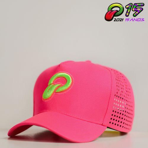Boné Oba Festival 2020 Rosa Fluor/Corte Laser-Edição Especial
