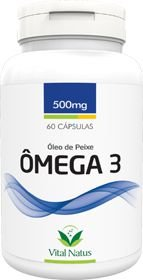 ÓLEO DE PEIXE (ÔMEGA 3) 500mg c/ 60 cápsulas - Vital Natus