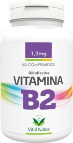VITAMINA B2 (Riboflavina) 1,3mg c/ 60 comprimidos - Vital Natus