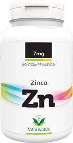 ZINCO QUELATO 7mg c/ 60 comprimidos - Vital Natus
