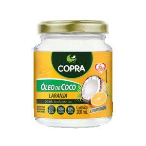 Óleo de Coco Extra Virgem Sabor Laranja 200ml - Copra