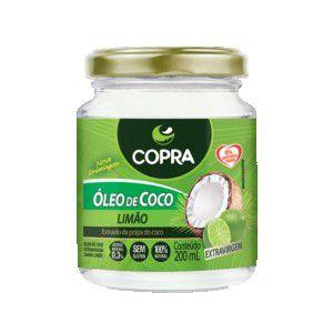 Óleo de Coco Extra Virgem Sabor Limão 200ml - Copra