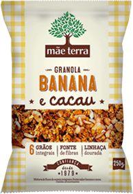 Granola Caseira Banana e Cacau - 250g - Mãe Terra