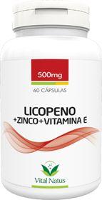 LICOPENO + ZINCO + VITAMINA E 500mg c/ 60 cápsulas - Vital Natus