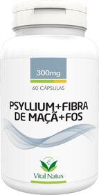 PSYLLIUM + FIBRA DE MAÇÃ + FOS 300mg c/ 60 cápsulas - Vital Natus