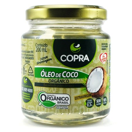 Óleo de Coco Extravirgem Orgânico 200ml - Copra