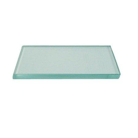 Plataforma de vidro para extensão de cílios