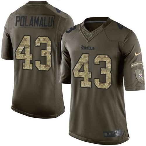 Camisa Pittsburgh Steelers- POLAMALU  43 Salute to Service ... acb45c4fab5