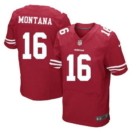 online retailer 7e4a5 27cda Camisa San Francisco 49ers Joe MONTANA #16 ELITE