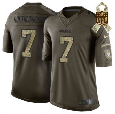 Camisa Pittsburgh Steelers- ROETHLISBERGER  7 Salute to Service ... 1333b05d2b9