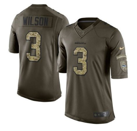 Camisa Seattle Seahawks - Russell WILSON  3 Salute to Service ... 055443ea51e