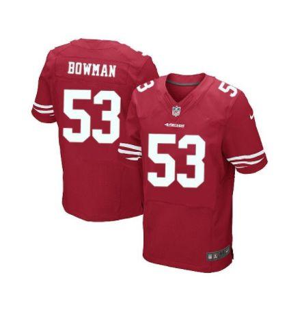 Jersey  Camisa San Francisco 49ers Navorro BOWMAN #53 ELITE