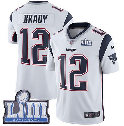 Jersey  Camisa New England Patriots Tom BRADY #12 - Super Bowl LIII