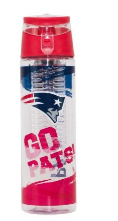 Garrafa  Squeeze Com Infusor New England Patriots - Nfl